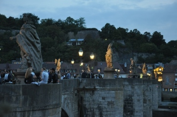 Altebrücke'de akşam
