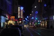 Gece Viyana caddeleri