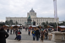 Burggarten ve noel pazarı