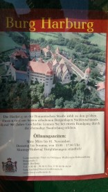 Harburg kalesi bilgi panosu