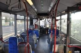 Belediye otobüsünün içi