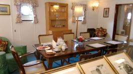 Britannia yatı yönetim subayları yemek odası