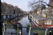 Kanal ve çiçekler