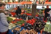 Açık pazar sebze sergisi