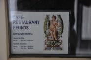 Pfunds Molkerei dükkanı lokanta levhası